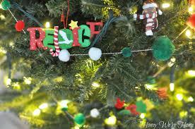 Pom Pom Trees Diy Christmas Pom Pom Garland Honey We U0027re Home