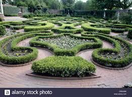 knot garden in 18th century european style tyron palace new burn