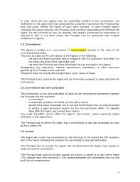 sales agency agreement template 28 images commission agreement