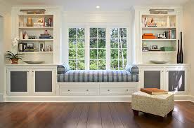 kitchen window seat cushions decorating wall bookcase wall open