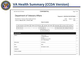 Veterans Affairs Help Desk Health Summary Slideshow My Healthevet