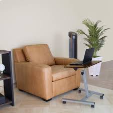 Sit Stand Desk Vancouver by Seville Classics Walnut Mobile Laptop Sit And Stand Desk With