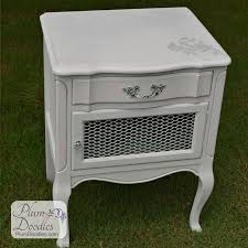 gray and silver nightstand plum doodles
