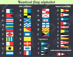 Nautical Code Flags Vector Illustration A Complete Set Of Nautical Flags