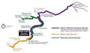 Rocky Mountain States Map Shuttle Bus Routes Rocky Mountain National Park U S National