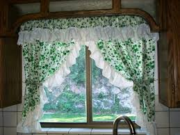 Brown And Green Curtains Designs Kitchen Beautiful Kitchen Curtain Designs Pictures With Green