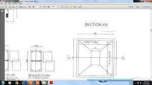 how to read the column and footing rod youtube