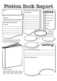 fiction book report template fiction book report pdf classroom hacks fiction