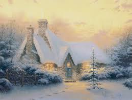 Thomas Kinkade Clocktower Cottage by Christmas Tree Cottage U2013 Limited Edition Art The Thomas Kinkade