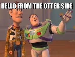 Side By Side Meme Generator - meme creator hello from the otter side meme generator at