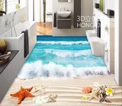 aliexpress com buy floor wallpaper 3d for bathrooms beach 3d