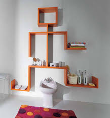 extraordinary white bathroom decor ideas with astounding orange