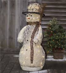 rattan led snowman decoration indoor decorations