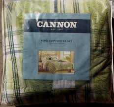 Cannon Bedding Sets Cannon Green Spencer Plaid Comforter Set Various Sizes Brand