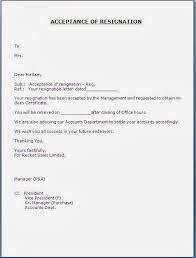 resignation acceptance letter format pdf letter format 2017