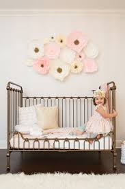 Girly Wall Stickers Floral Wallpaper Accent Wall In The Nursery So Whimsical And