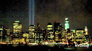 9 11 Memorial Lights 9 11 Tribute Lights Memorial World Trade Center Nyc View From
