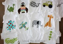 simply this and that fabric applique boy onesies