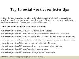 Top    social work cover letter tips