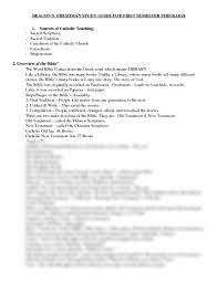 1st semester theology1 final exam study guide 2013 4 doc