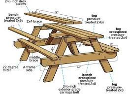 Free Wood Table Plans by Amazing Of 8 Ft Wood Picnic Table 8 Foot Picnic Table Plans