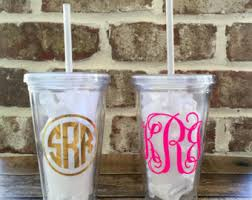 monogrammable items monogram tumbler etsy