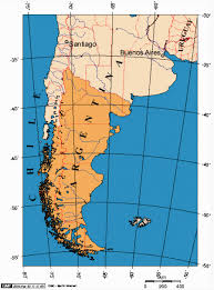chile physical map patagonia punta arenas and parque torres paine chile