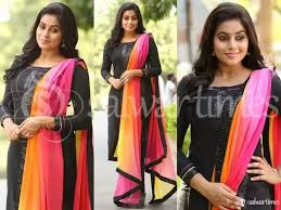 color combination with black what color combination of dupatta would match on a hot pink salwar