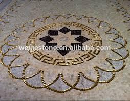 tile mosaic medallion living room kitchen lobby floor