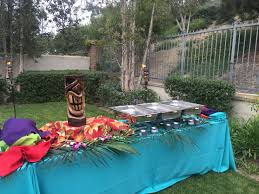 backyard luau in newport beach at your service catering