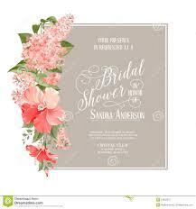 bridal card bridal shower card stock vector illustration of pink 51952370