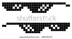 Edit Meme - glasses pixel art style 8bit thug stock vector 599730479