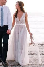 spaghetti straps bridal gown garden wedding beach style wedding