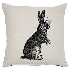 Asda Direct Easter Decorations by Rabbit Hare Sketch Cushion 43x43cm Cushions Asda Direct