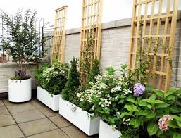 Trellis Landscaping Terrace Garden With Wooden Trellis Wonderful Roof Terrace Garden
