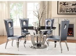 silverado chrome 47 round dining table black and chrome dining table dining room ideas