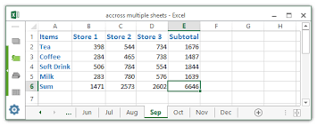 how to create a list from same cells across multiple sheets in excel