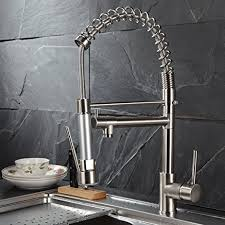 Kitchen Sink Faucets Amazon Com by Fapully Contemporary Spring Single Handle Kitchen Sink Faucet With