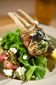 Rack Of Lamb On Grill Grilled Rack Of Lamb With A Mixed Herb Pesto Emerils Com