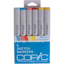 amazon com copic markers 6 piece sketch set perfect primaries