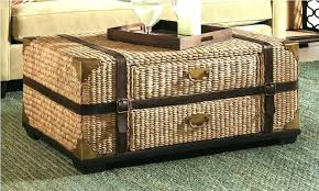 Wicker Trunk Coffee Table Large Wicker Coffee Table Large Wicker Coffee Table S Large Wicker