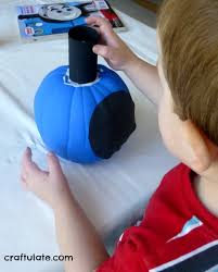 thomas train pumpkin craft craftulate