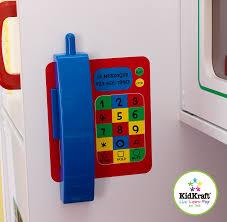 Plastic Toy Kitchen Set Amazon Com Kidkraft Deluxe Let U0027s Cook Kitchen Toys U0026 Games