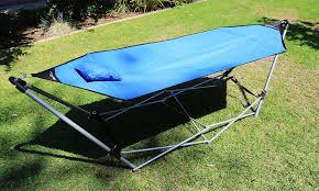 portable folding hammock beach lounge camping bed w carrying bag