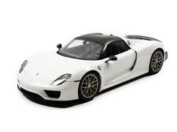 porsche 918 spyder black porsche 918 spyder weissach package glossy white 1 18 car by