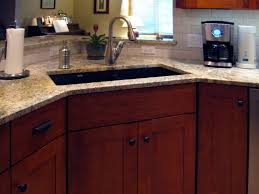 Kitchen Corner Cabinets Options Corner Kitchen Sink Cabinet Dimensions Inspirations Also All About