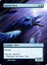 Storm Crow Meme - my version of magic art part 11 storm crow by request magictcg