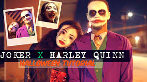 Jokers Halloween Harley Quinn The Joker Halloween Tutorial Easy Last Minute