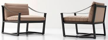Nube Armchair Contemporary Armchair Leather Sled Base Softwood By Marco