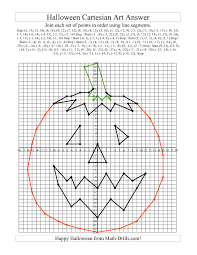 halloween graphing worksheets plotting points math drills com